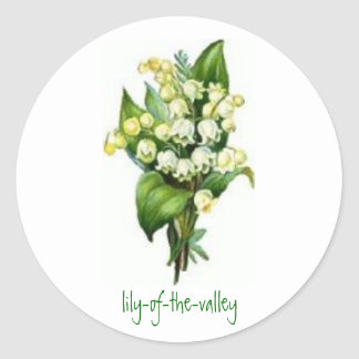 Stickers with Lily-of-the-Valley Design