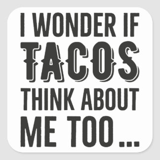 Stickers Wonder Tacos Thinking