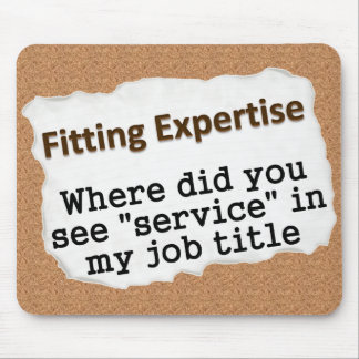 Sticking to your area of expertise (2) mouse pad