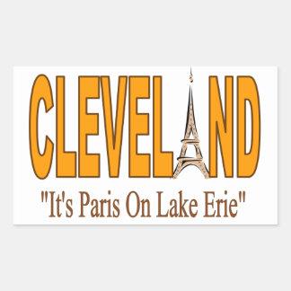 Sticking with Cleveland Rectangular Sticker