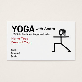 stickman3, YOGA, with Andre, Certified Yoga Ins... Business Card