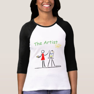 Stickman Artist Painting T-Shirt