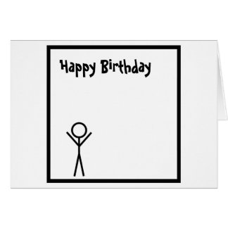 Stickman Greeting Card