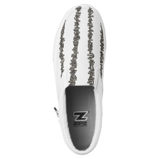 Sticks And Stones- Black And White Graphic Design Slip On Shoes
