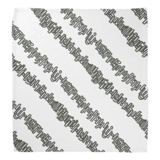Sticks And Stones- Black And White Ink Drawing Bandana