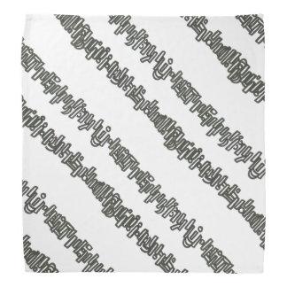 Sticks And Stones- Black And White Stripes Bandana