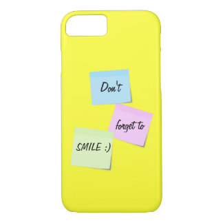 Sticky notes Smile customizable text iPhone 7 case