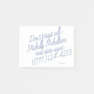 Sticky Scribble Business Card Post-it Notes