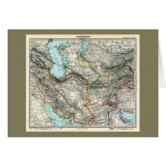 Stielers Handatlas Map of Iran & Turan (1891) Card