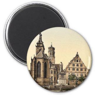 Stiftkirche, Stuttgart, Wurtemburg, Germany rare P 6 Cm Round Magnet
