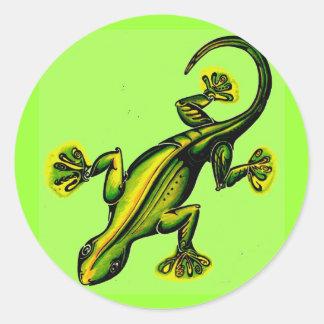 Stik like-a-lizard classic round sticker