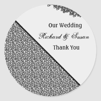 stikers to wedding classic round sticker