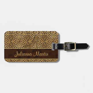 Stiletto Cheetah Print for the Lady Traveler Luggage Tag