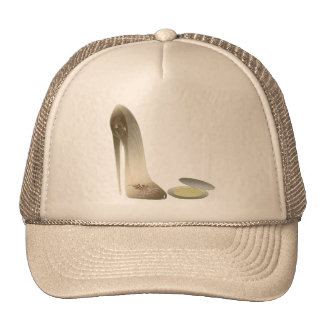 Stiletto Shoe and Compact Art Mesh Hat