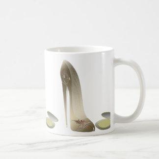 Stiletto Shoe and Compact Art Coffee Mugs