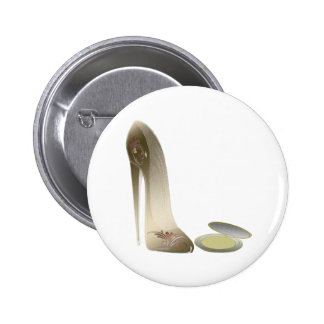 Stiletto Shoe and Compact Art Pin