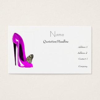 Stiletto Shoe Art Business Cards