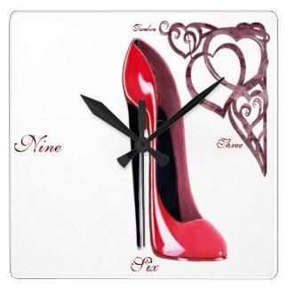 Stiletto Shoe Art Clocks