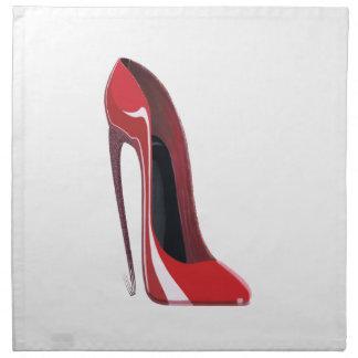 Stiletto Shoe Art Napkins