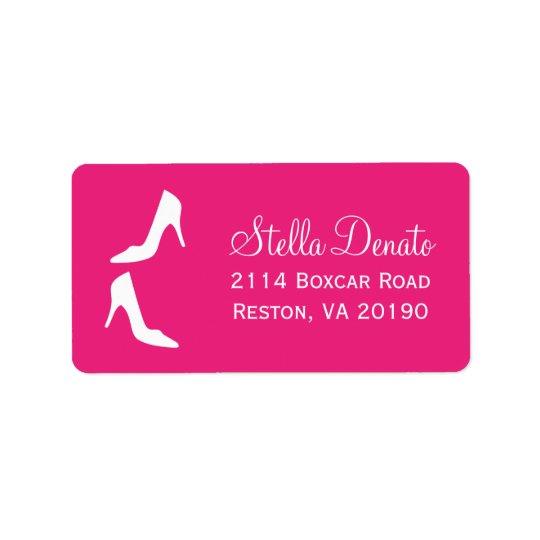 Stilettos Address Labels - Hot Pink