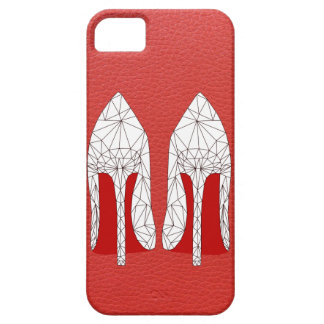 STILETTOS Mesh triangle style ON red leather iPhone 5 Cover