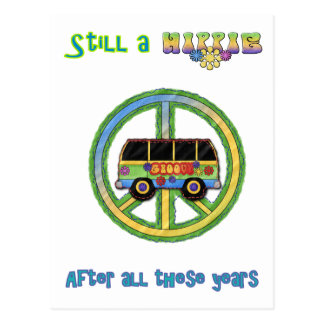 Still a Hippie After All These Years Postcard