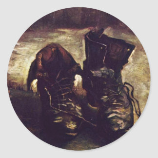 Still A Pair Of Shoes By Vincent Van Gogh Classic Round Sticker