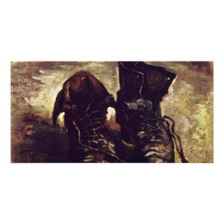 Still A Pair Of Shoes By Vincent Van Gogh Personalized Photo Card