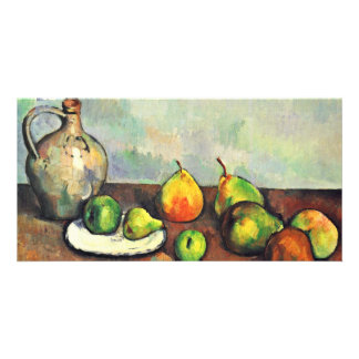 Still Jug And Fruit By Paul Cézanne (Best Quality) Personalized Photo Card