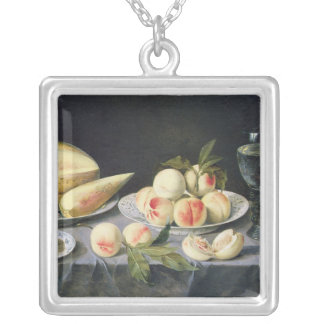 Still Life 2 Square Pendant Necklace