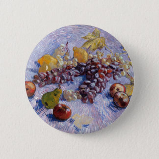 Still Life: Apples, Pears, Grapes - Van Gogh 6 Cm Round Badge