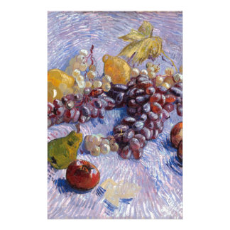 Still Life: Apples, Pears, Grapes - Van Gogh Personalized Stationery