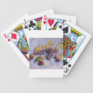 Still Life: Apples, Pears, Grapes - Van Gogh Poker Deck