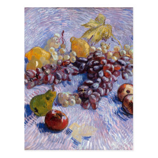 Still Life: Apples, Pears, Grapes - Van Gogh Postcard