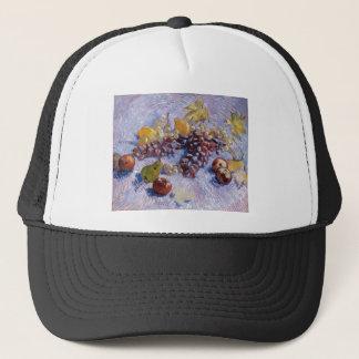 Still Life: Apples, Pears, Grapes - Van Gogh Trucker Hat