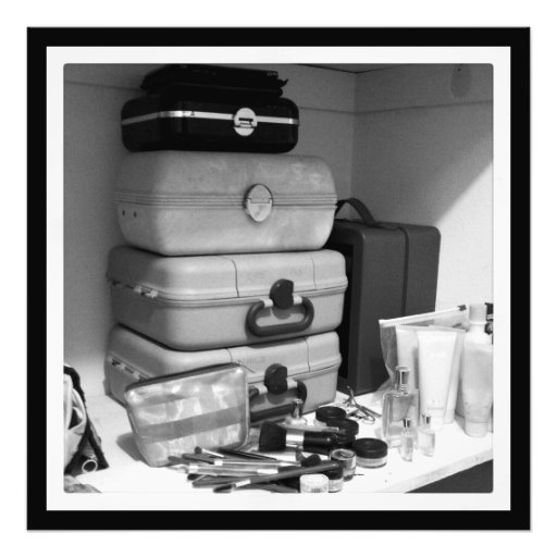 Still life B/W Photograph of Makeup Collection
