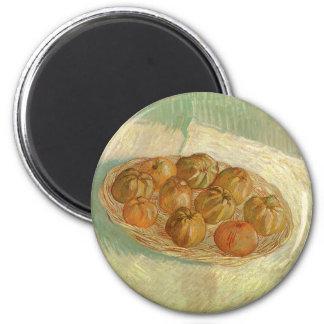 Still Life, Basket of Apples by Vincent van Gogh 6 Cm Round Magnet
