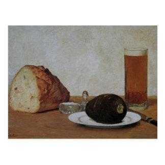 Still life beer and radish - Albert Anker Postcard