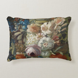 Still life bouquet of flowers accent cushion