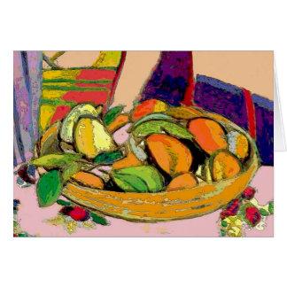 Still Life Bowl of Fruit Card