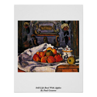 Still Life Bowl With Apples By Paul Cezanne Posters