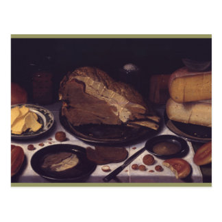 Still life breakfast Schooten Postcard