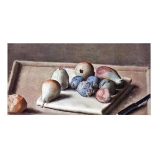 Still Life By Liotard Jean-ÉTienne (Best Quality) Photo Greeting Card
