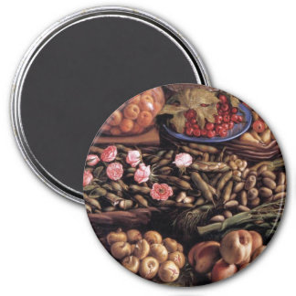 Still Life by Vincenzo Campi 7.5 Cm Round Magnet