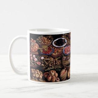 Still Life by Vincenzo Campi Basic White Mug