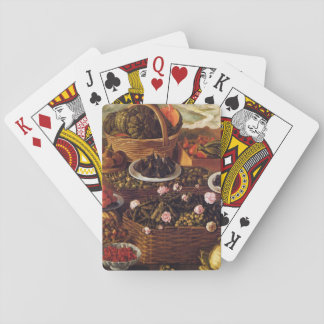Still Life by Vincenzo Campi Card Deck