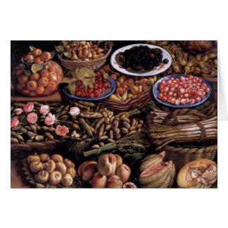 Still Life by Vincenzo Campi Greeting Card