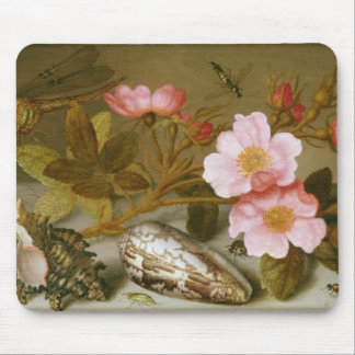 Still life depicting flowers mouse pad
