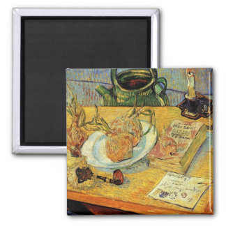 Still Life Drawing Board, Pipe, Onions and Sealing Magnet