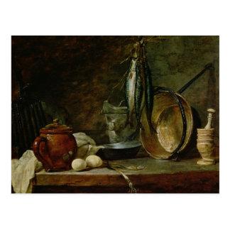 Still life: Fast Day Menu, 1731 Postcard